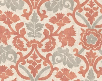 Coral Anika Curtains- coral and light gray, Accent pillows, Valance