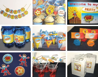 Super Heroes Birthday Party Theme DIY Food Decoration