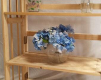 Handcrafted wooden bookshelves