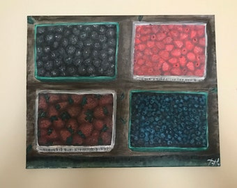 Mixed berries painting