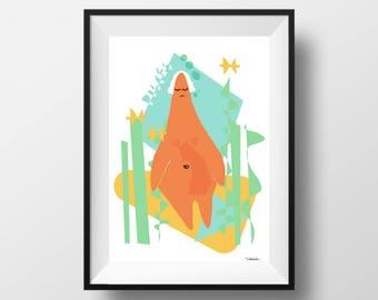 Pisces Digital Astrology Art, Pisces Print, Pisces Sign, Pisces Zodiac, Pisces Wall Art, Pisces Poster, Gifts for Pisces