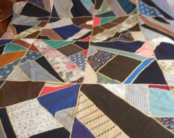 Antique Crazy Quilt Top Only