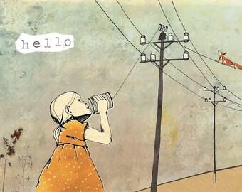 Card 'Hello', set of 4