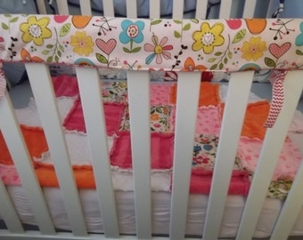 PATTERN, Super Simple Crib Rail Cover Tutorial, Reversible, pdf Instant Download.