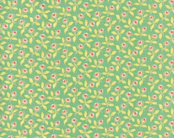 Fig Tree Fabric - Hazel and Plum Fabric - Teal Fig Tree Quilt Fabric - Teal Floral Fabric By The 1/2 Yard