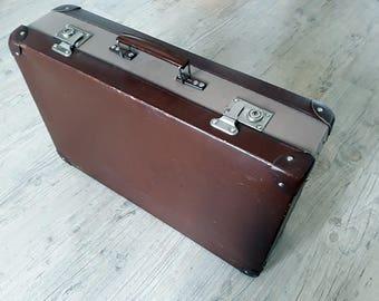 Vintage Suitcase .Cardboard, Vintage Travel.