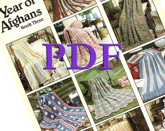 PDF - A Year of Afghans, Book 3, 1992, 12 designs