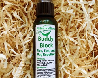Buddy Block for Pet Lovers!/100% Pure & Therapeutic Essential Oils/Infestations/Fleas/Ticks