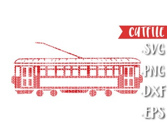 New Orleans Street Car SVG Cut File- New  Orleans SVG Cut File - Louisiana SVG Cut File - Silhouette File - Cricut File