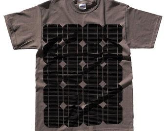 Solar Cell T Shirt - Solar Panel Print - Geek - Alternative Energy