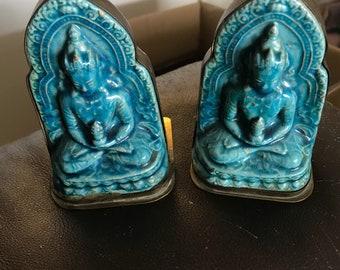 Budda Bookends - Teal