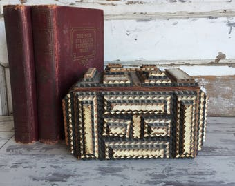 Vintage Tramp Art Box with Lid -As is Found in the Ozarks