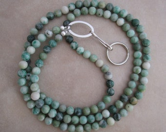 Ching Hai jade silver lanyard badge ID holder