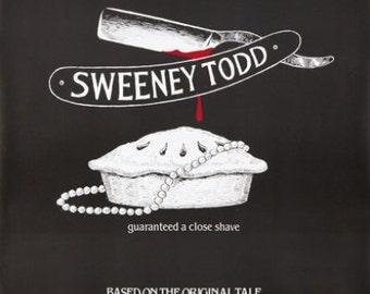 Sweeney Todd. Original Poster. 1982