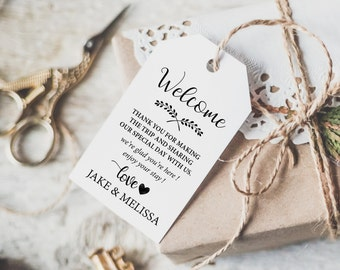 Thank You Tag - Wedding Thank You Tags -  Wedding Favor Tag - Wedding Printable - Wedding Favor - Editable - Downloadable wedding