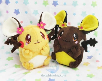 Pokemon Dedenne Plush Plushie Soft Toy Shiny Dedenne