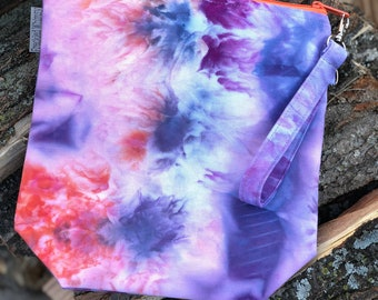 Hand Dyed - OOAK - Sock Nanny Watercolor Bag #2