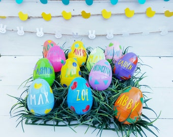 Personalized Easter Eggs - Easter Eggs - Easter Egg Hunt - Easter Decor