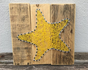 Made To Order. Starfish String Art, Home Decor, Seaside, Gifts