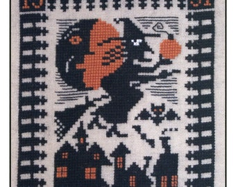 Night Flight by Prairie Schooler Counted Cross Stitch Pattern/Chart