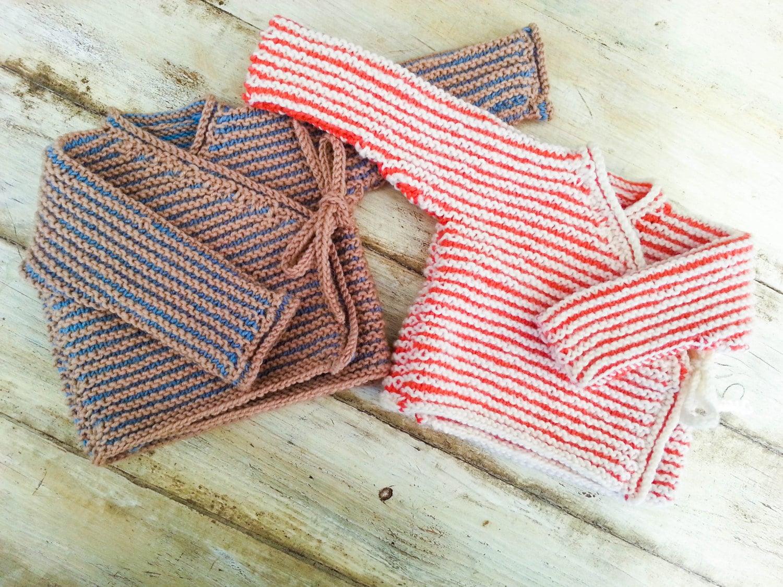 KNITTING PATTERN Baby Wrap Cardigan Baby Sweater 7 Sizes
