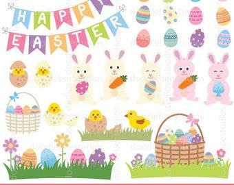 Easter Clipart, Easter Clip Art, Easter Bunny Clipart, Bunny Clip Art, Easter Chicks Clipart, Easter Eggs Clip Art, Easter Baskets Clipart