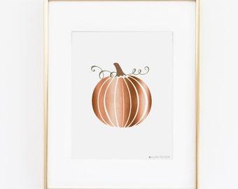 Fall Printable | Fall Prints | Pumpkin Printable Art | Instant Download | Autumn Printable | Fall Decor | Pumpkin Printable | Copper Print