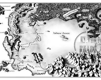 "Alagaesia Map / Eragon / 24""x36"" / Free US Shipping"