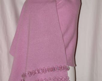 Lambswool Wrap, Lovely Loops in Piglet Pink
