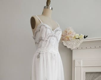 Sale 20% Off, Divine Pearl Studded Lace Gown | Bohemian Wedding Dress | Bridal Gown Dress | Bohemian Wedding Dress