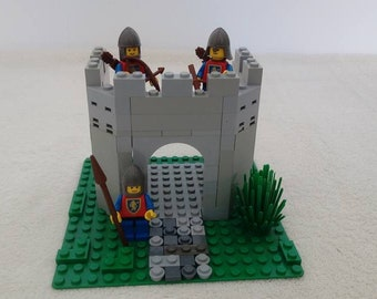 Guard knight tower with classic LEGO® lion guards build out of LEGO® bricks