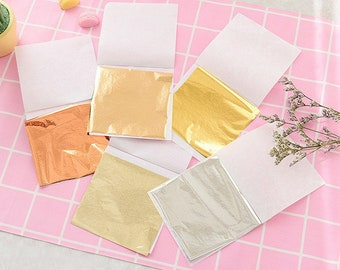 Very thin gold tin foil gold foil silver rose gold Slime added - Nail paper