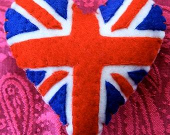 Union Jack Felt Pincushion