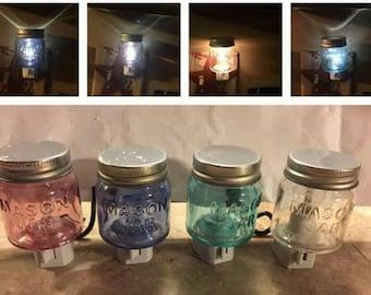 Miniature Mason Jar Night Light