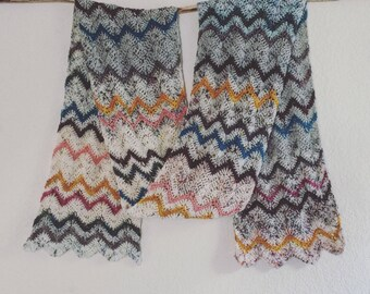 Crochet Pattern:  Ziggy! Zaggy! Scarf/Wrap