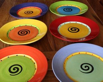 Rimmed Dinner Plates