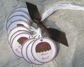 YOURE SWEET - Bonbon Circle Tags - Set of 10