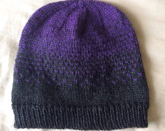Knitted Ombre Gradient Beanie Hat