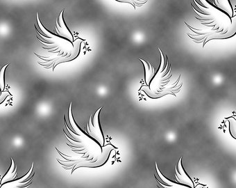 Quilting Treasures - Our Father - Dove Fabric (24225-K)