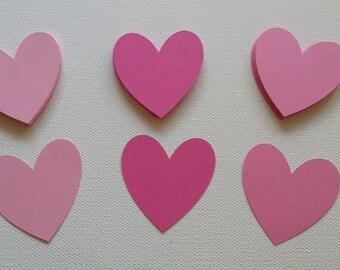 Heart die cuts Set of 25