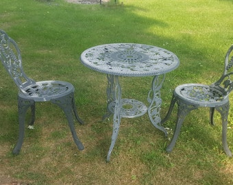 Vintage Bistro Table Etsy