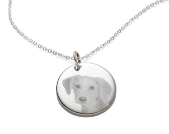 Private Listing for Kerri, Custom Dog Memorial Picture Pendant Necklace Personalized Engraved Christmas Gift Idea for Dog Lover