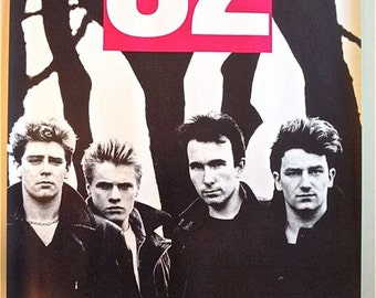 U2 * Concert Poster * Unforgettable Fire * Hamburg, Germany * 8 Oktober 1984 * 20x28 * Vintage Original * Collectible