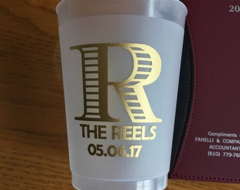 16 oz Frosted Personalized Custom Wedding Cups Party Favors Beach