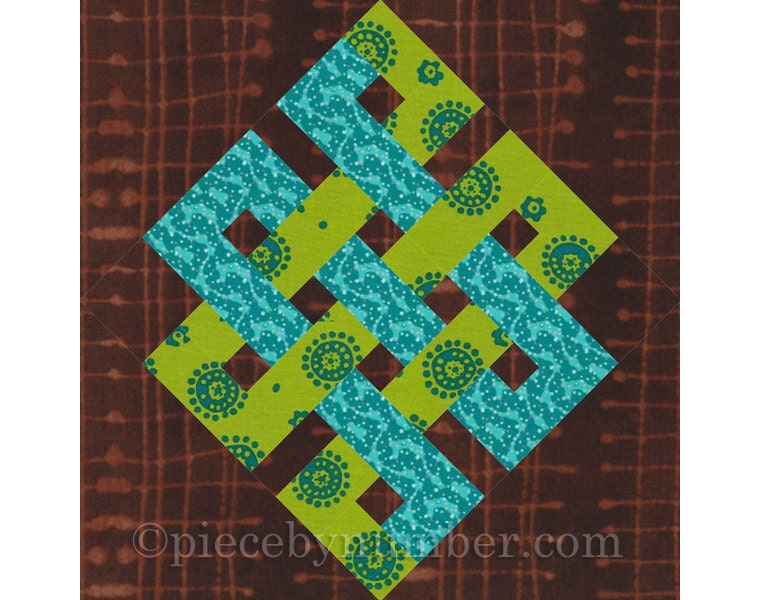 Eternity Knot rotary quick cut quilt block pattern PDF : irish quilt blocks - Adamdwight.com