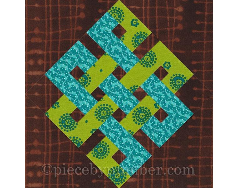 Eternity Knot rotary quick cut quilt block pattern PDF : fast quilt blocks - Adamdwight.com