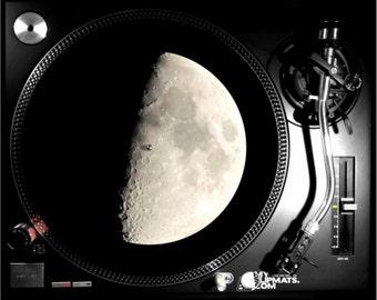 Half Moon Slipmat dj turntable night music gifts record vinyl art slip mat slipmats shirt beauty adult musicians myslipmats player