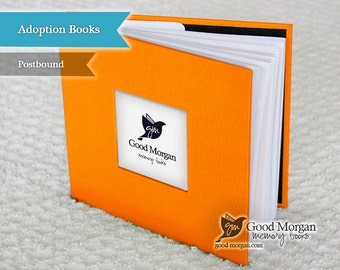 Adopted Baby Memory Book - Orange