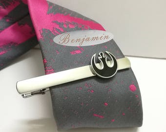 rebel alliance tie clip,Lettering tie clip,tie clip custom, Men's Tie Bar,star wars tie clip.personalized tie,star war tie clip