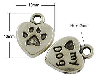 10 I love my Dog Charms